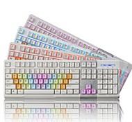 ajazz AK10 usb cablato professionale 3 colori LED chiave disegno della protezione ergonomia della tastiera 3d tasti di gioco