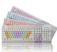 Ajazz AK10 USB Wired Professional 3 LED Colors Key Cap Ergonomics Design 3D-keys Gaming Keyboard