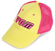 pgm malla rosa + sunproof sombrero amarillo del golf transpirable
