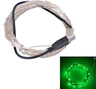 Xinyuanyang® USB  6W 100-0603 SMD Blue Light LED Strip Lamp - Silver (DC 5V / 1000cm)