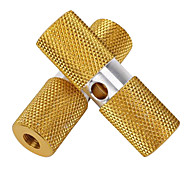DUUTI 1 Pair BMX Bike Aluminum Alloy Rear Front Axle Yellow Solid Foot Pegs
