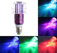 lámpara de cristal hamburguesa luz RGB LED con mando a distancia - púrpura (ac85-265v) 150lm 3w e27
