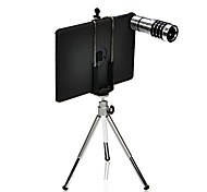 12x ipad mini câmera do telescópio lente telescópica + tripé