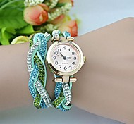 Women's Fashion  Crystal Leather Winding Bracelet Watch(Assorted Colors) Cool Watches Unique Watches