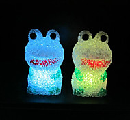 Frog EVA Crystal Color-changing Night Light