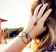 Shixin® Classic Red Resin Tassel Shape Ring Bracelet(1 Pc)
