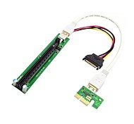 0.3M 0.98FT PCI-E 1x to 16x Mining Machine Enhanced Extender Riser Adapter with USB 3.0 & SATA Power Cable Free Shipping