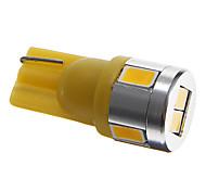 t10 3w 4x5730 SMD 110-150ml luz blanca cálida bombillas led para luz de posición lateral del coche (12V CC)