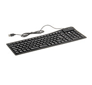 KN-105 Portable Waterproof Flexible Wired USB Keyboard