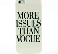 More Issues than Vogue Letter Pattern Hard Case for iPhone 5/5S