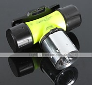 LT-BG T6 Diving 3-Mode 1×Cree T6 LED Flashlight (1000LM,3×AAA/1×18650 3.6v/3.7v Green)