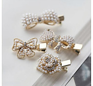 Lovely Pearl Flowers and Bowknot Hair Pins Hair Accessories Random Delivery