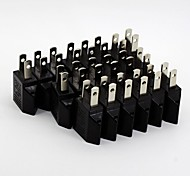 Round to Flat Power Plug Convertor (20/Pack 110V-240V)