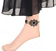 Vintage Cobweb Lace Anklet