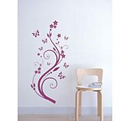 flor jiubai ™ arte videira adesivo de parede para casa a decoração da parede do decalque