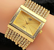 Women's Luxury Lady Alloy Metal Crystal Beaded Tassel Band Quartz Bracelet Watch (Assorted Color)