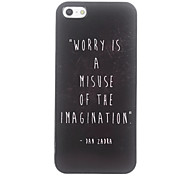 Unique WORRY Design Aluminium Hard Case for iPhone 4/4S