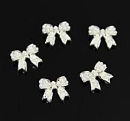 10pcs  3D DIY Pearl Bowknot Sticker Accessories Nail Art Decoration