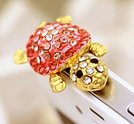 Tortoise Shaped Zircon Alloy Anti-dust Plug(Pink)