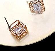 Z&X®  Fashion Cute Love Hollow out Zircon Earrings