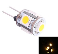 g4 0,5 W 45lm 3500K 5x5050 warm witte LED lamp (DC 12V)