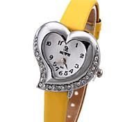 em forma de coração lamond pinkycolor Senhoras relógio