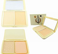 LIDEAL®Soybean 3-Color Pressed Powder Cake 2in1 Wet Primer Makeup Base/Dry Loose Finishing Powder(Powder Puff&Mirror in)