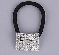 Alloy Diamond-Encrusted Hair Bands Ponytail Holders