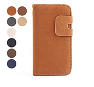 Fashion Wallet Style PU Leather Full Body Case with Card Slot for iPhone 4/4S (Assorted Colors)