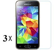 [3-Pack]Professional High Transparency LCD Crystal Clear Screen Protector with Cleaning Cloth for Samsung Galaxy S5 Mini