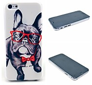 Happy Glasses Dog Pattern Hard Cover for iPhone 6