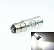 BAZ15D 1122 P21 CREE XP-E LED 20W 1300-1600LM 6500-7500K AC/DC12V-24 Tturn Light White - Silver Transparent