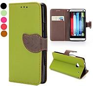 Magnetschließe Lichee Muster-Design Geldbörsenart Standfuß TPU und PU Ledertasche für HTC One m7 (verschiedene Farben)