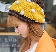женская немного теплая шерсть шляпа