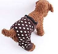 Собаки Брюки Коричневый Одежда для собак Весна/осень В горошек