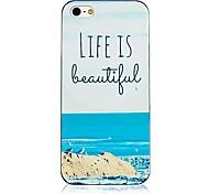 Das Leben ist schön schwarzen Rahmen zurück Fall für iPhone 4 / 4s