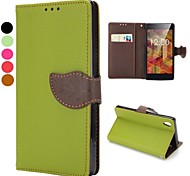 Magnetic Buckle Design Wallet Style Flip Stand TPU+PU Leather Case for Sony Xperia Z2 L50W(Assorted Colors)