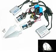 12V 35W 9004 / 9007-2 4300k HID-Xenon-Lampe Umbausatz mit Befestigungssatz (Hyper Slim silber Vorschaltgerät)