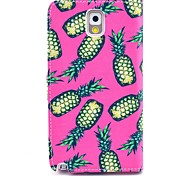 Pink Pineapple Pattern PU Leather Case with Stand Card Holder for Samsung Galaxy Note 3 N9000
