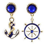 Fashion Navy Anchor  Pattern Earrings