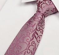 jacquard rosa de cuello de novia tejido tie don oscuro de los hombres