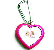 CYBER.GEAR  Mini 1.5 Inch Heart-Shaped Digital Photo Frame with Key Ring