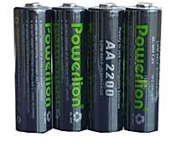 PowerLION 1.2v 2200mAh перезаряжаемые AA 4шт NiMH аккумуляторов