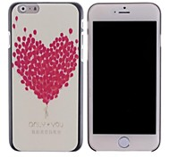Heart-shaped Balloon Pattern PC Hard Cover for iPhone 6