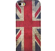 Vintage England Pattern Up and Down Leather Hard Case for iPhone 5/5S/5G