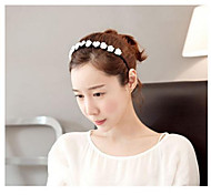 Lovely Black and White Flowers Headbands Circle Random Color