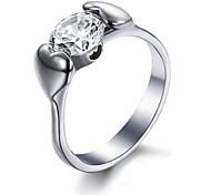 Ms Fashion Creative Love Drag Drill Titanium Steel Ring