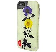 1989® шт настоящий цветок хризантемы образцов китайский случай элементы культуры для iPhone 5 / 5S