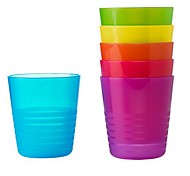 Rainbow Mug Polypropylene Plastic  Assorted Colours 6-pcs 12x6.5x12cm