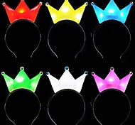 LED Flashing Crown Design Plastic Party Light(Random Color x1pcs)